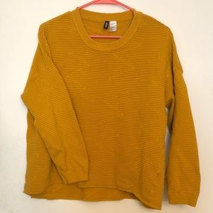 H&M Divided Women's Medium Yellow Sweater